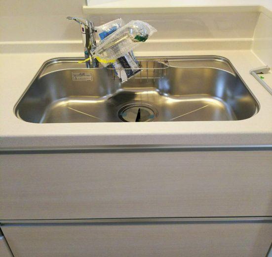 洗剤もスポンジも置けるシンク(キッチン)